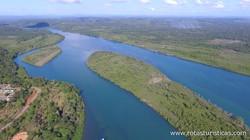 Vista Aérea del Río de Contas (Itacaré)