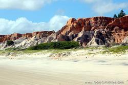 Falésias coloridas de Praia das Fontes / Ceará