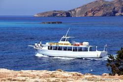 Passeios de barco na costa de Ibiza