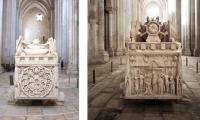 Túmulos de D. Pedro I e de Inês de Castro ( Mosteiro de Alcobaça)